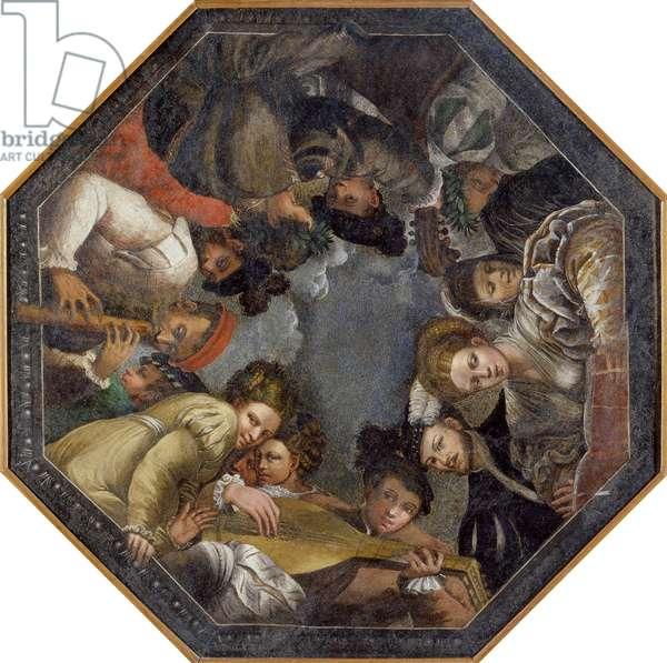 The Concert par Niccolo dell'Abate (1509/12-1571). Fresco, 1540-1545, Galleria Estense, Modena