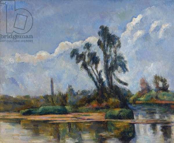 La Riviere par Cezanne, Paul (1839-1906). Oil on canvas, size : 50x61, ca 1881, Private Collection