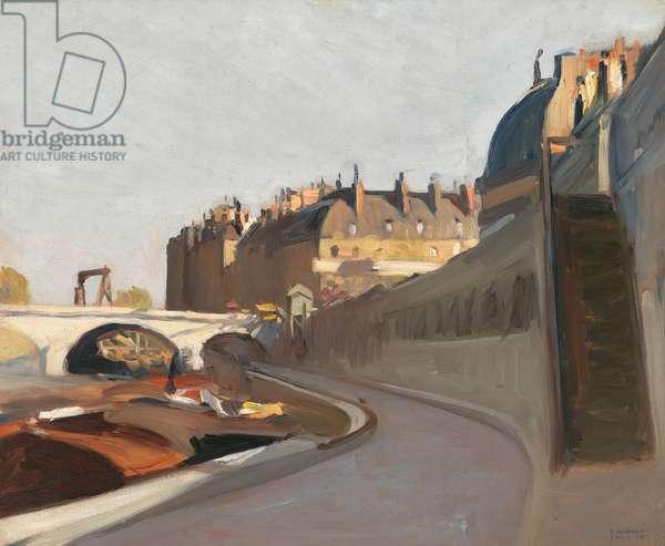 """""""Le quai des grands augustins, Paris"""", 1909 (oil on canvas)"""