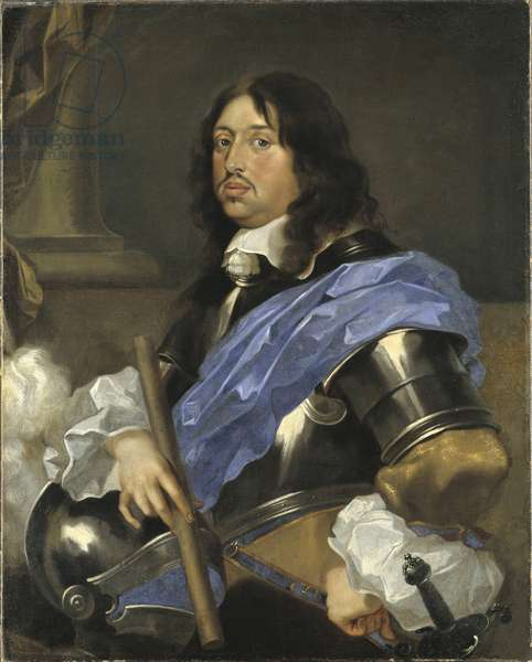Charles X Gustave roi de Suede - Portrait of the King Charles X Gustav of Sweden (1622-1660), by Bourdon, Sebastien (1616-1671). Oil on canvas. Dimension : 102x82 cm. Nationalmuseum Stockholm