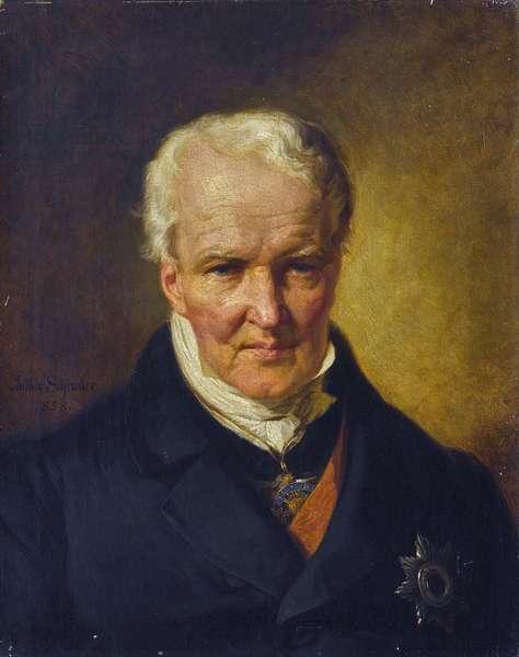 Portrait of Alexander (Alexandre) von Humboldt (1769-1859) - Julius Schrader (1815-1900). Oil on canvas, 1858. Dimension : 62,5x50 cm Private Collection