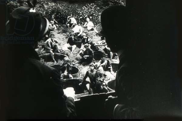 Scene from the film Strike by Sergei Eisenstein by Anonymous. Photograph, 1925. Private Collection