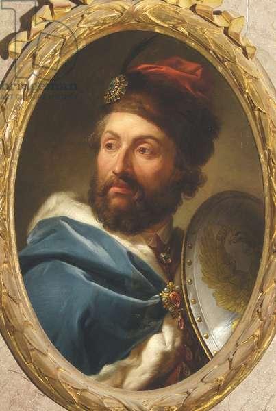 Portrait of Casimir IV Jagellon (1427-1492), King of Poland - Marcello Bacciarelli (1731-1818). Oil on copper, 1769-1771. Royal Castle, Warsaw
