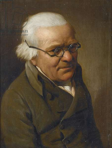 Portrait of a man wearing glasses par Boilly, Louis-Leopold (1761-1845). Oil on canvas, size : 21,9x17, 1807, Private Collection