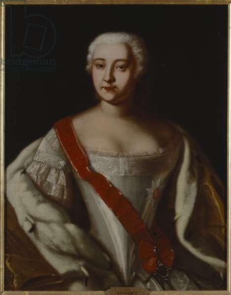 Elisabeth I, imperatrice de russie - Portrait of Empress Elizabeth of Russia (1709-1762), Anonymous . Oil on canvas. Dimension : 87x68 cm. Nationalmuseum Stockholm