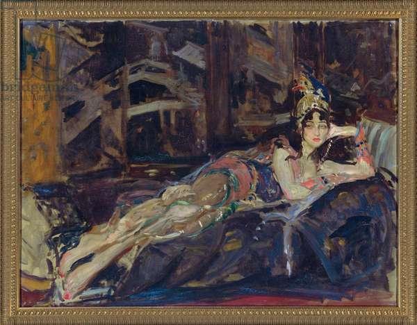 Ida Rubinstein as Zobeide in the ballet 'Sheherazade' by Nicholas Rimsky Korsakov (oil on canvas)