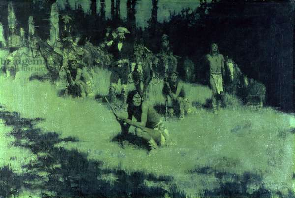 Apache Scouts Listening, 1908 (oil on canvas)