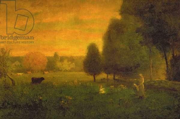 Sundown Brilliance (oil on canvas)