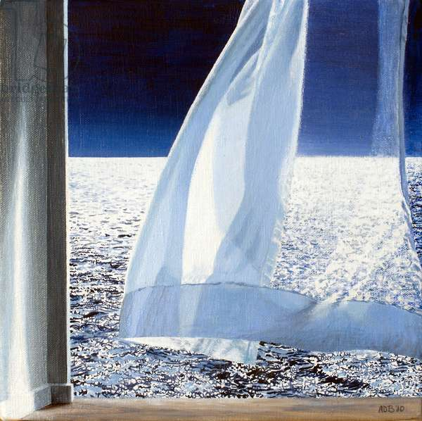 Above the Sea Nocturne (study), 2010 (oil on canvas)
