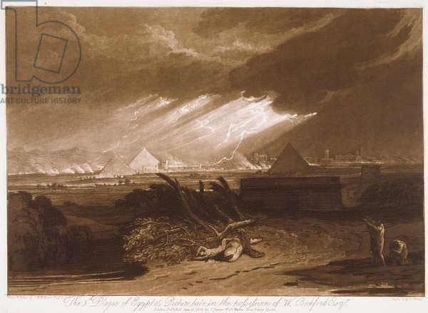 F.16.I The Fifth Plague of Egypt, from the 'Liber Studiorum', engraved by Charles Turner, 1808 (etching)