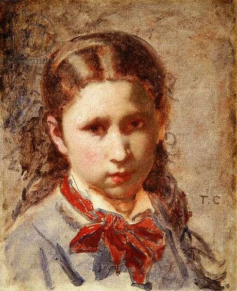 Head of a girl (oil on canvas)