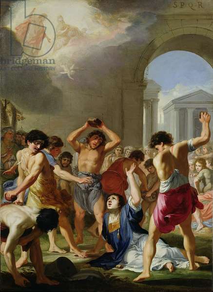 The Martyrdom of St. Stephen, c.1623 (oil on copper)