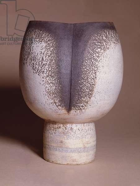 C.36-1972 Vase, c.1966-70 (stoneware, white slip over manganese)