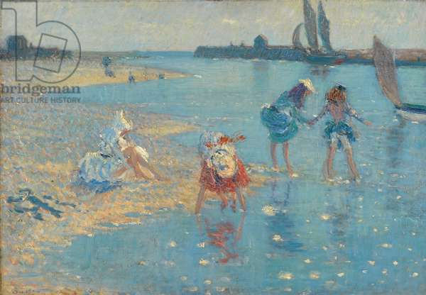Walberswick, Children Paddling, 1891 (oil on canvas)