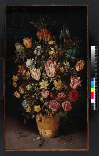 Tub of flowers, 1614 (oil on panel)