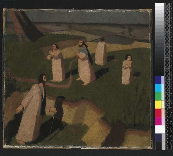 John Donne arriving in Heaven, 1911 (oil on canvas)