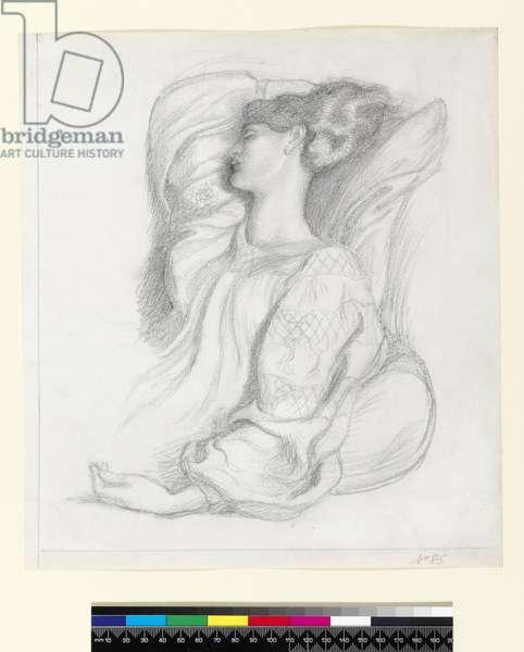 Study of Mrs William Morris (1839-1914), c.1873 (pencil on paper)