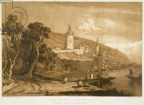 The Town of Thun, from the 'Liber Studiorum', engraved by Thomas Hodgetts, 1816 (etching)