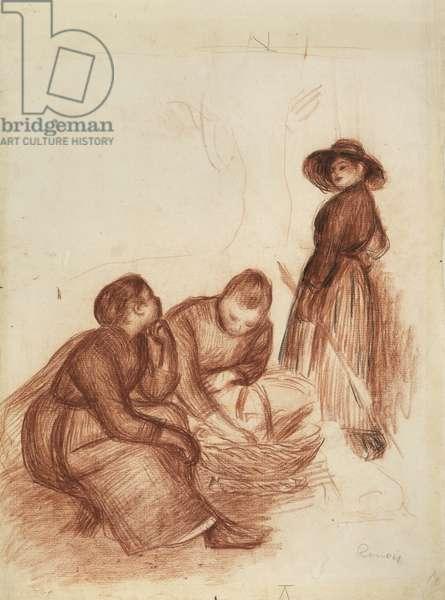 La Collation (chalk on paper)