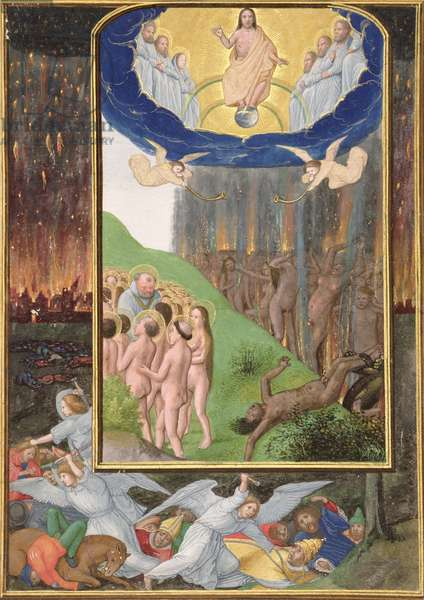 Ms 294 D The Last Judgement, from a Book of Hours, c.1500