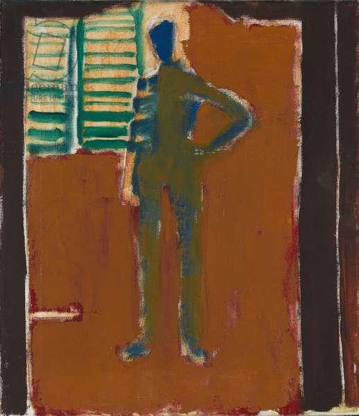 Mirror Landscape, Self Portrait (oil on canvas)