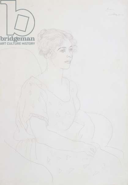 Portrait of Lydia Lopokova (1892-1981) 1919 (pencil on paper)