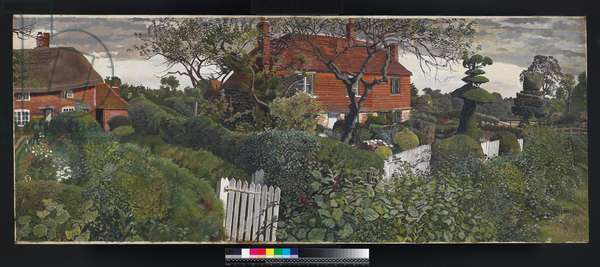Cottages at Burghclere, 1927-30 (oil on canvas)
