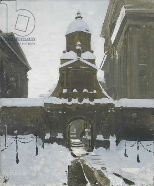 The Gate of Honour under Snow, 1924 (oil on canvas)