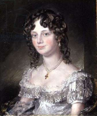 Portrait of Mrs Mary Fisher, wife of John Fisher, Archdeacon of Berkshire, 1816 (oil on canvas) (see 74982)