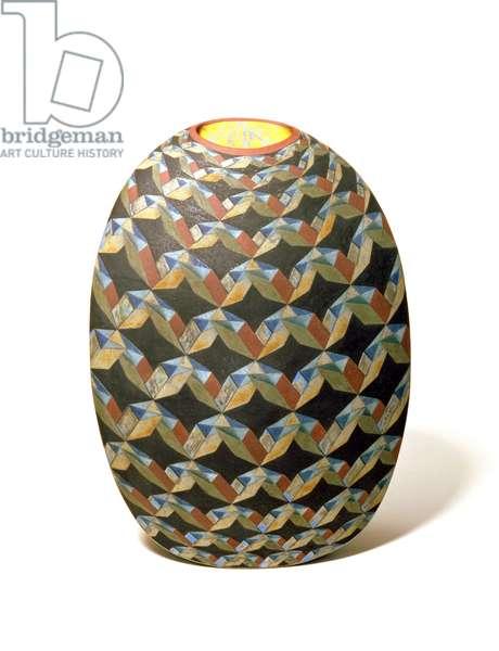 Quantum Pocket II, 1992, by Elizabeth Fritsch (b.1940) (coloured stoneware)