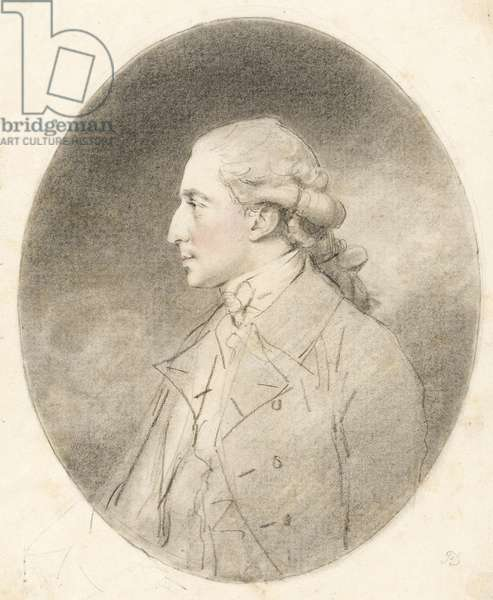Andrew Robinson Stoney-Bowes, 1781 (red & black chalks on paper)