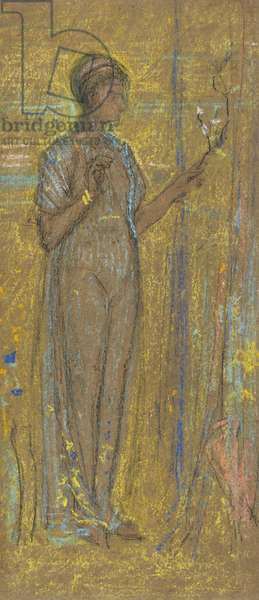 Blue and Gold, 1871-72 (chalk & pastel on brown paper)