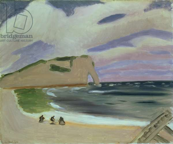 Women on the Beach, Etretat, 1920-21 (oil on canvas)
