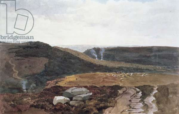 Yorkshire Fells, c.1840 (pencil & w/c)