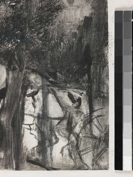 L'Avenue du Bois (detail), 1880 (monotype, black carbon ink on India paper)
