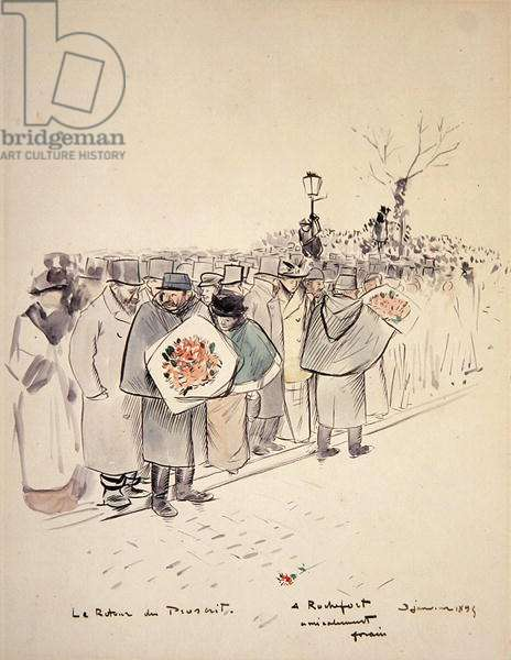 Le Retour du Proscrit, c.1895 (pen & ink and w/c on paper)