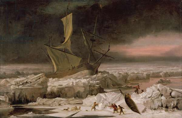 Arctic Adventure, or A Ship in Distress off Greenland, c.1677 (oil on canvas)