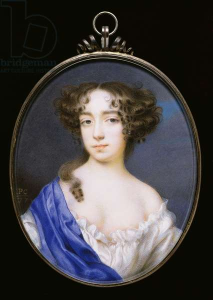 No.3833 Mary of Modena, 2nd wife of King James II of England and Scotland, c.1677 (vellum)