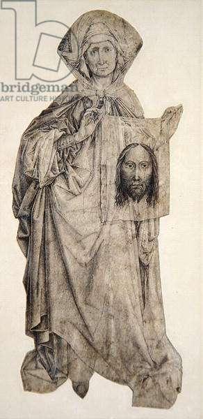 St. Veronica (pen, ink & indian ink wash on vellum)
