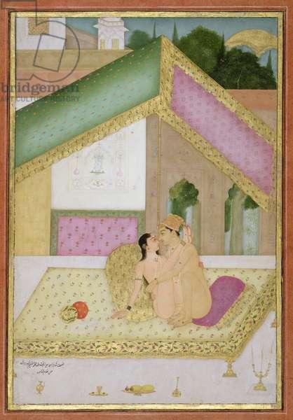The private pleasure of Prince Bedar Bakht, son of Emperor Muhammad Azim by Gulam Quadir, Bikaner, Rajasthan, Rajput School, c.1678-98 (gouache on paper)