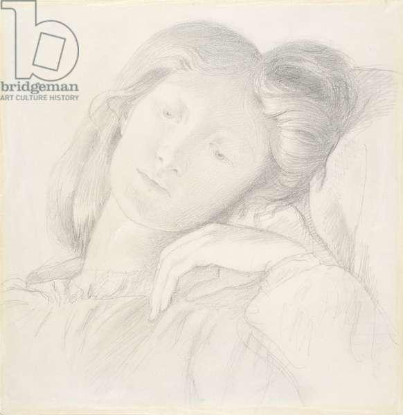 No.0684 Elizabeth Siddal, c.1860 (pencil)