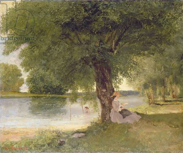 The Charente at Port-Bertaud, 1862 (oil on canvas)