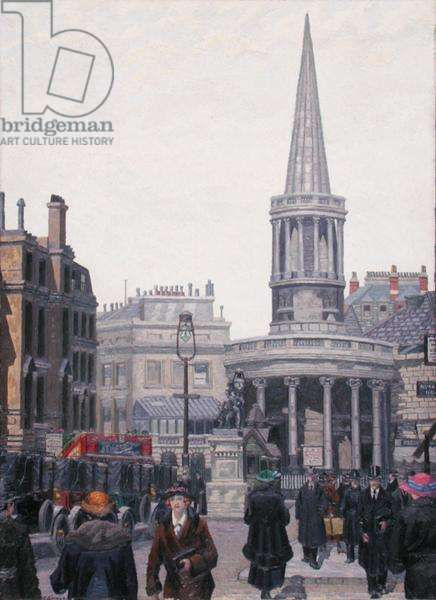 The Church of All Souls, Langham Place, London, 1924 (oil on canvas)