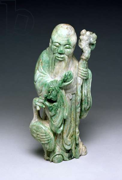 Figure of Shou Lao (jade)