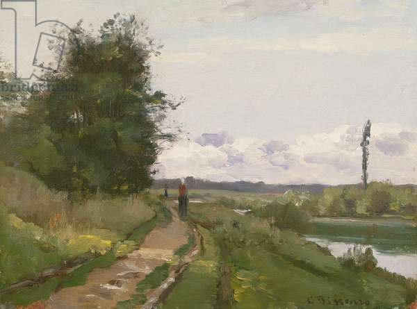 The Banks of the Seine at Bougival, 1864 (oil on canvas)