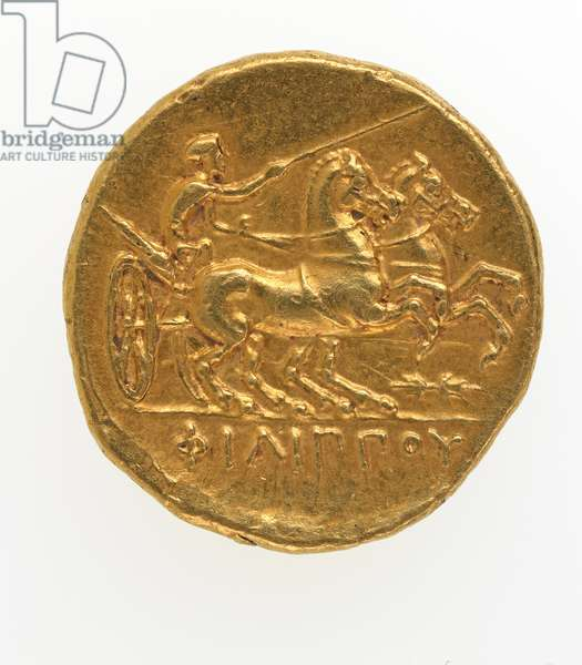 Reverse of a stater of Philip II of Macedonia, 359-336 BC (gold)