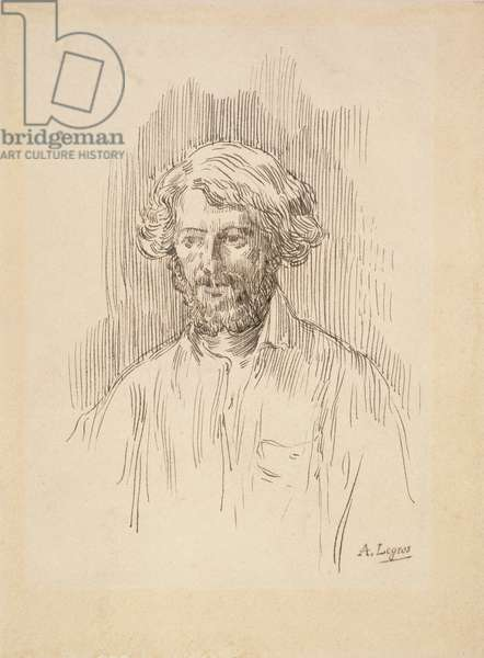 Self Portrait, 1858 (pen and ink on paper)