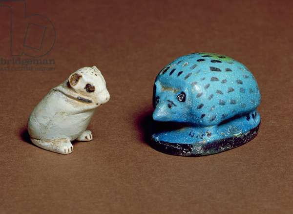 Hedgehog and jerboa, from Beni Hasan and Heliopolis, 12th-13th Dynasty, c.1963-1648 BC (faience)