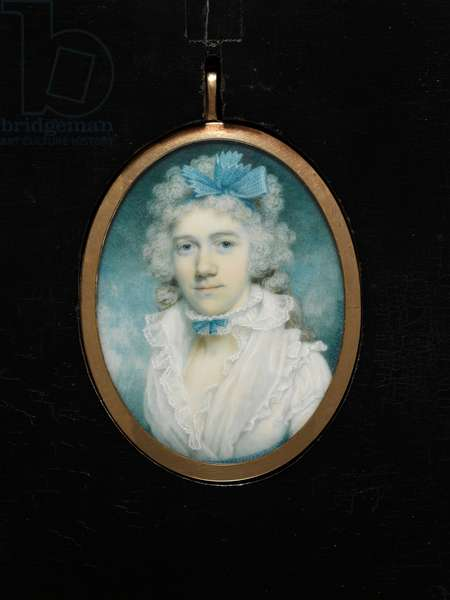 Susannah Wedgwood, mother of Charles Darwin, 1793 (w/c on ivory)