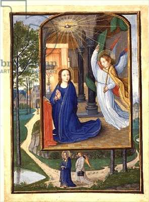 Ms 294 B Annunciation, from a Book of Hours, c.1500